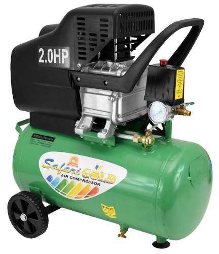 Compresora de aire verde safari 24l 220v 2hp e-bm-24l gr