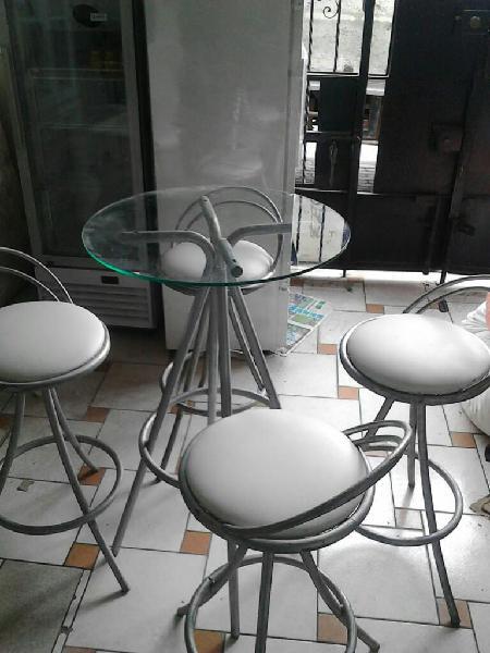 Venta juego bar mesa silla alta lima