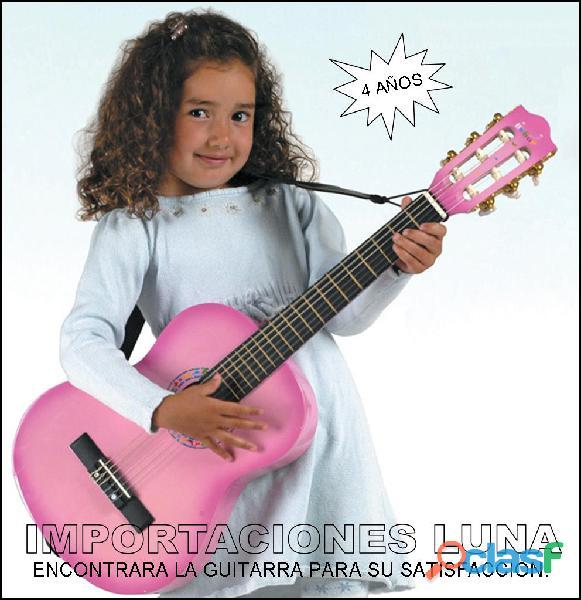 Guitarra rosada para niña y jovencitas