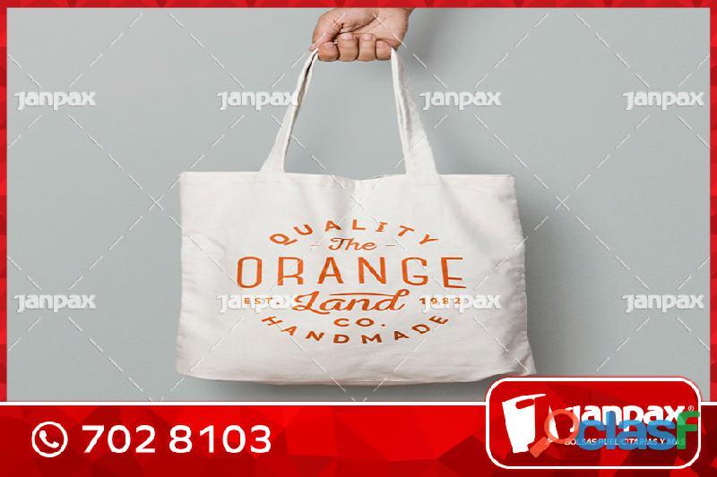Bolsas de Tocuyo con Logo Propio JANPAX