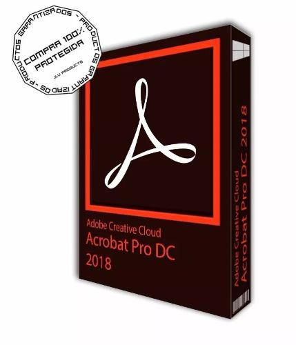 Acrobat pro adobe dc 2018, para mac o win permanente