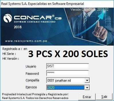 Concar cb 2018.02 x3 pcs instaladas a solo 200 soles