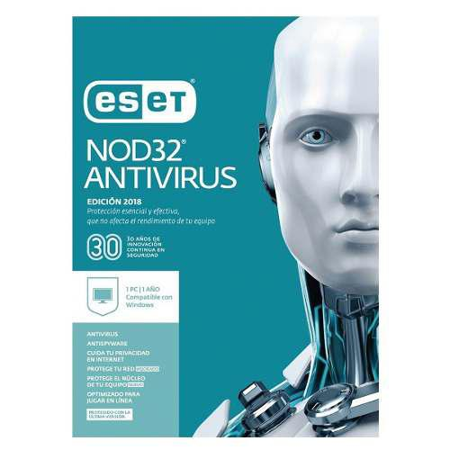 Eset nod32 antivirus, edición 2018,1 pc presentación en