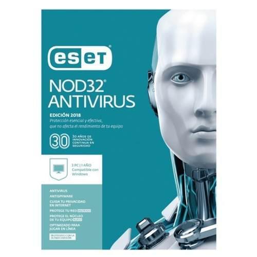 Eset nod32 antivirus2019 v12 licencia 3pcs hasta 2021 esd