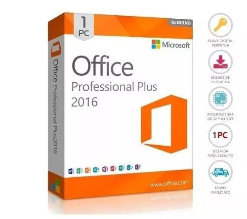 Office 2016 pro plus licencia original digital 1pc