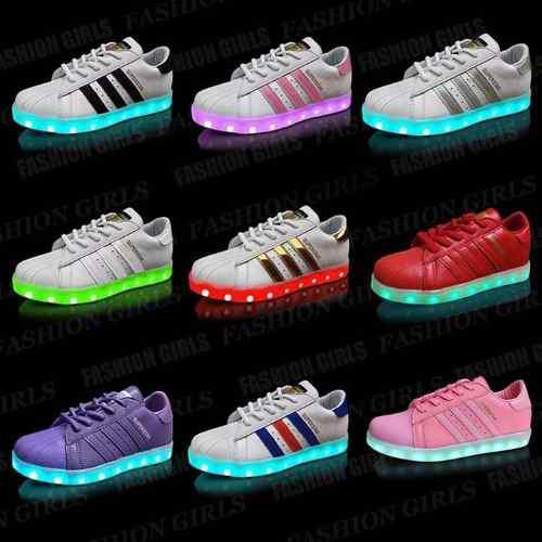 Zapatillas adidas Superstar Led Con Cable Usb