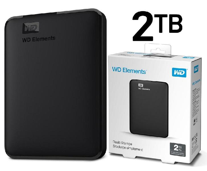 2TB Disco Duro Externo Western Digital Elements Portable