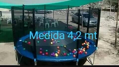 Cama Elastica 4,20 Metros De Diametro Saltarina Trampolin