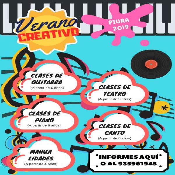 Clases de Guitarra, Canto, Piano, Etc