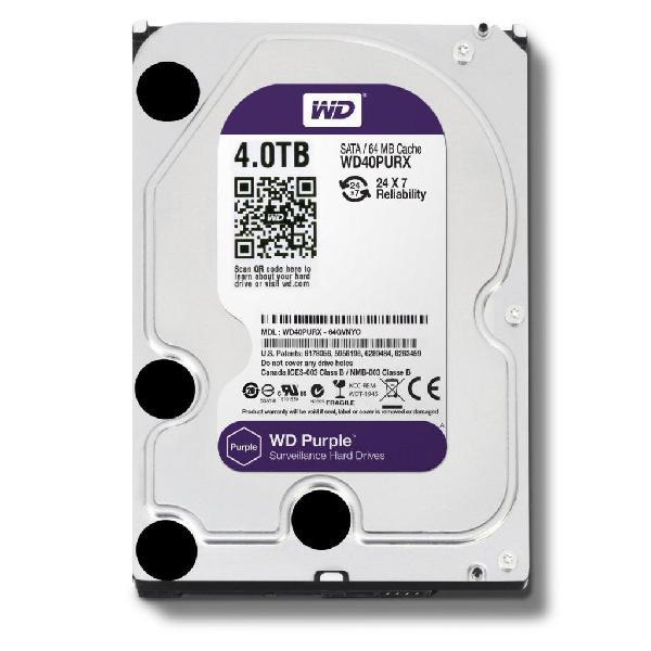 Disco Duro 4 Tb Western Digital Purpura, Uso En Dvr O Cpu