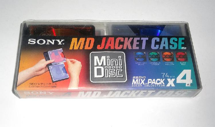 Paquete de 4 discos Minidisc Sony nuevos y sellados MD