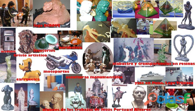 Cursos de fibra de vidrio, resinas poliester, mascaras moldes de jebe y otros