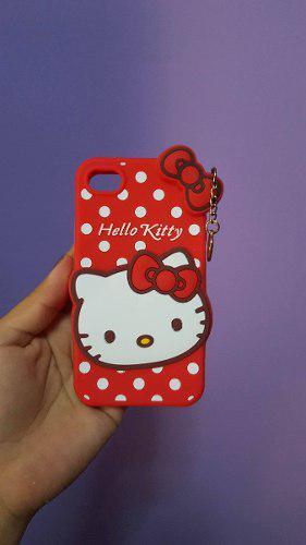 Carcasa de hello kitty silicona para iphone 4