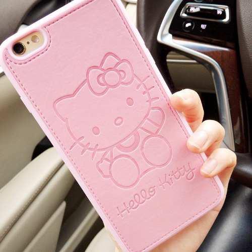 Carcasa hello kitty iphone 6, 6s cuero pu