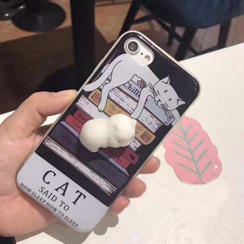 Carcasa iphone 6 plus gato 3d squeeze