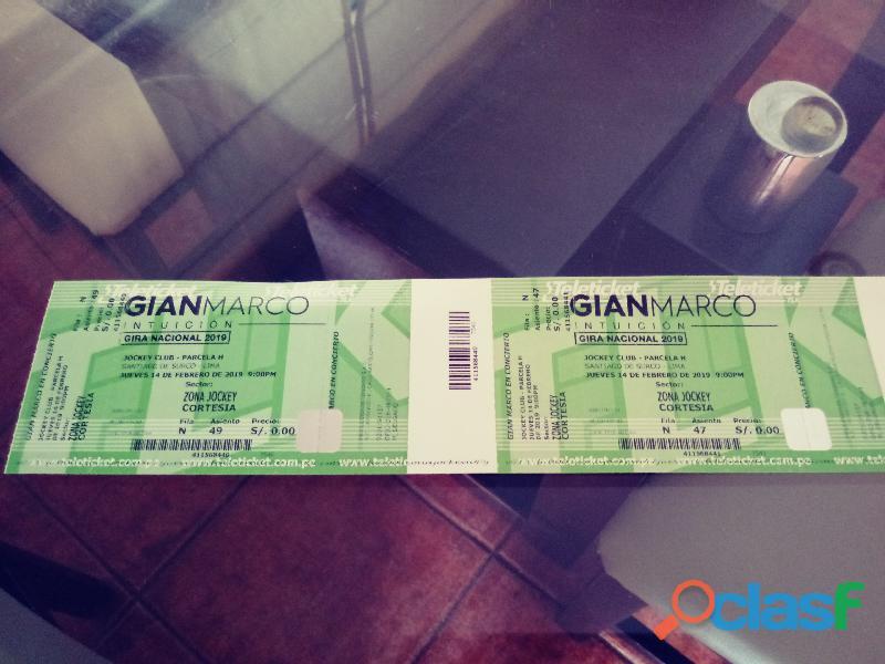 Vendo 2 entradas concierto gianmarco