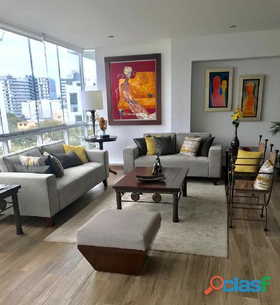Venta dpto miraflores 159 m², 3 dorm, 2 estac   $485,000 venta