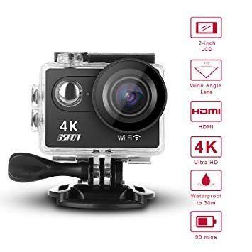 4k sports camera, 2.0 inch ultra hd -wifi- tactil - tienda