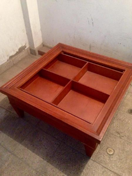 Juego de mesas cedro para sala