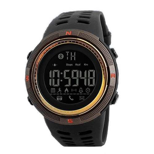 Smartwatch skmei 1250 borde dorado lcd acuático
