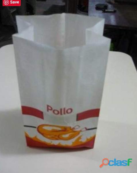 Remató bolsas térmicas de papel para pollo a la brasa