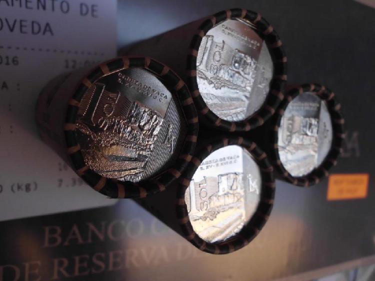 Cabeza de vaca cono de 20 monedas de coleccion