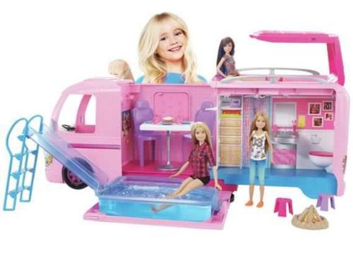 Camper de la barbie 2017 carro camper de lujo de mattel