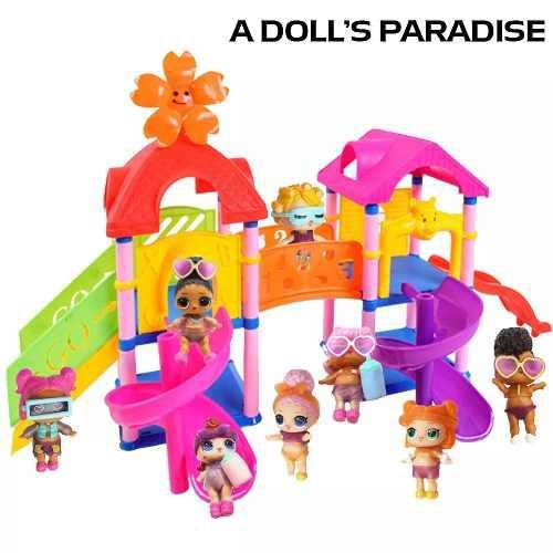 Casa parque lol slide muñeca juguete l.o.l accesorios