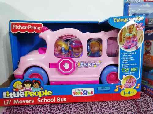 Fisher price little people bus escolar rosado.