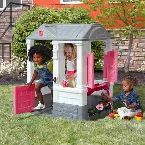 Juego para niños juguete casa de patio pink step 2 2018
