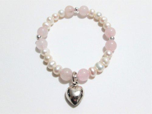 d8effedb2663 Pulsera plata 950 k perlas rio cuarzos natural mujer regalo