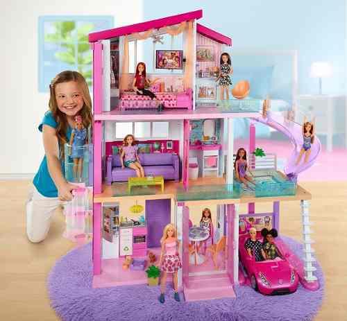 Super casa de barbie con tobogan + auto convertible glam