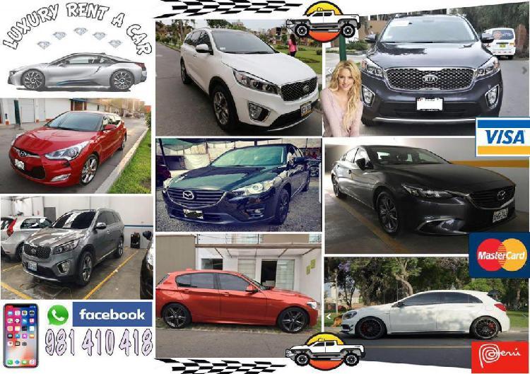 ALQUILER DE AUTOS CAMIONETAS 4X4 KIA HYUNDAI BMW AUDI TOYOTA segunda mano  Callao (Callao)
