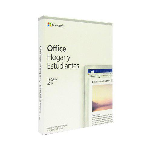 Microsoft office hogar y estudiantes 2019, 1 pc, español,