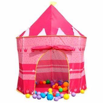 Carpa castillo casita armable niños niñas azul rosado