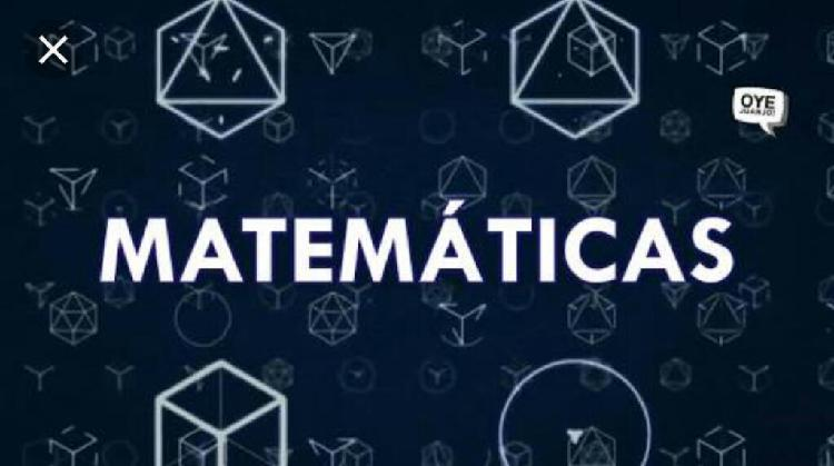 Clases/matemáticas a primaria/secundaria