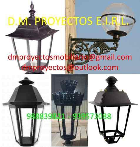 Farolas y luminarias para parques,plazas, alamedas,calles av