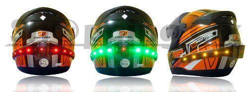Luces intermitentes led para casco de moto inalambrico