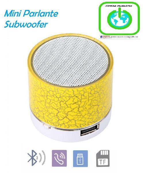 Mini parlante portátil subwoofer reproductor de audio mp