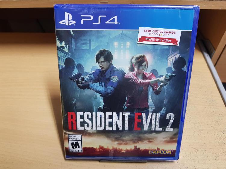 Resident evil 2 juego ps4 nuevo y sellado
