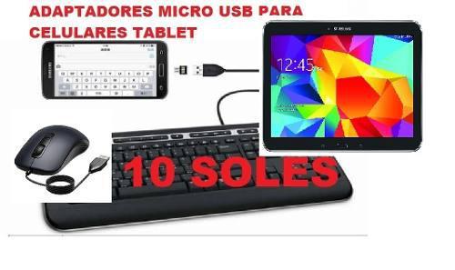 Usb otg conecta celular tablet a solo 10 soles