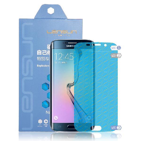 S6 edge protector de pantalla lensun 2 laminas.