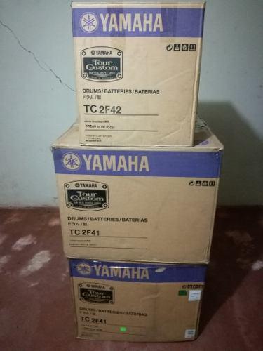 Batería acústica yamaha tour custom flotante caja