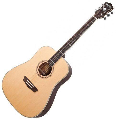 Guitarra acustica metal jumbo washburn wd10ns