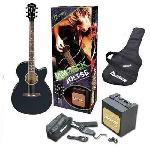 Guitarra electro acústica ibanez aeg5 con amplificador pack