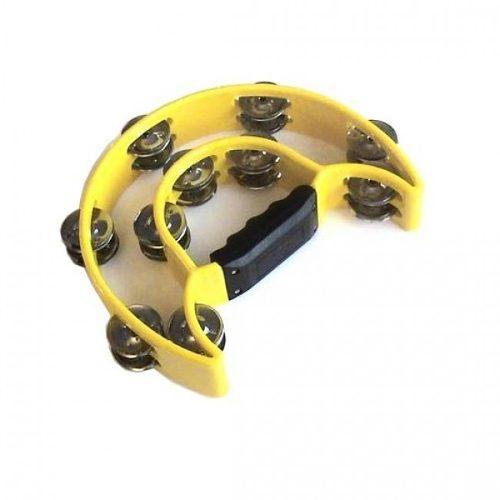 Pandero medialuna ptwj220y color amarillo, baldassare