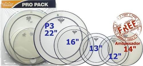 Parche remo pinstripe propack para bateria 12-13-14-16 y22