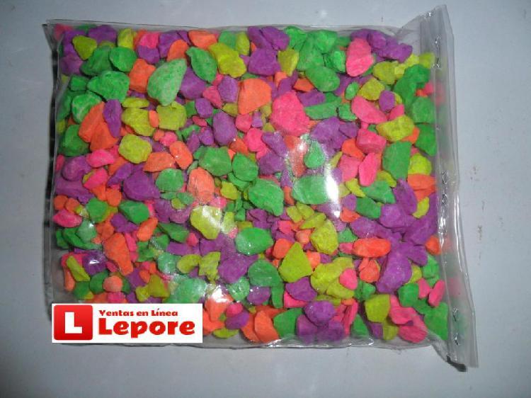 Piedra de colores tratada para acuario pecera peces