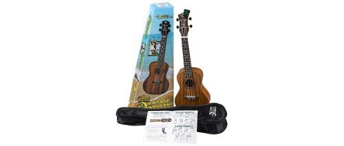 Ukulele luna vintage mahogany concert pack