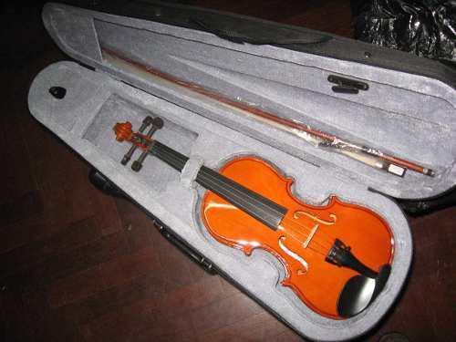 Violin parrot 1/4 con arco,estuche y pez. sonido. nuevo 100%